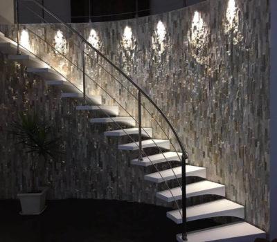 Illuminazione scala interna Villa Privata