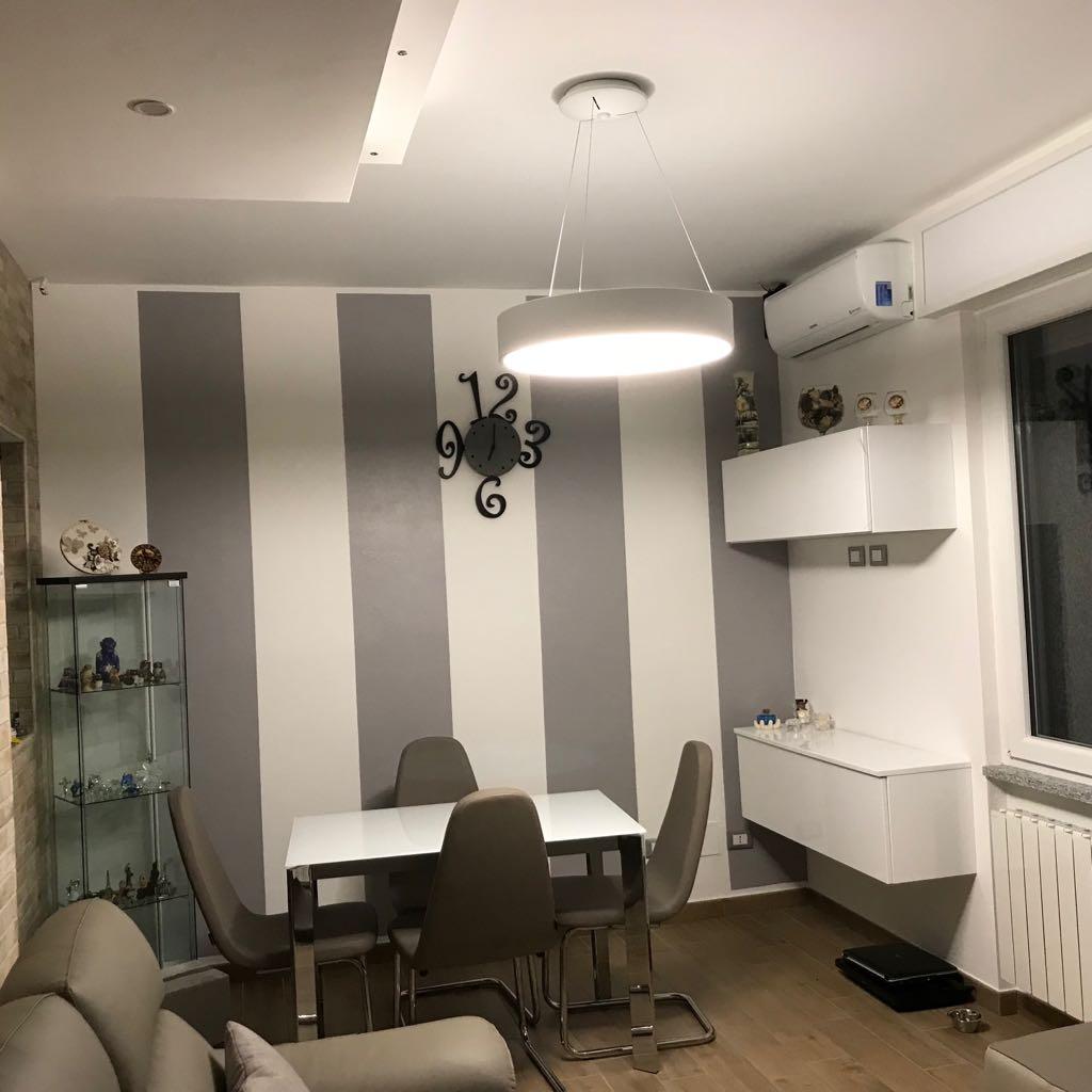 Illuminazione cucina e sala da pranzo gorla la luce - Illuminazione sottopensile cucina ...